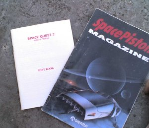 Space Quest II Hint book and Space Quest IV Maual